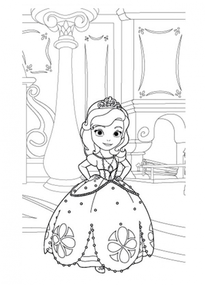 Princess Sofia Coloring Pages Games : Get this princess sofia the first in her room coloring