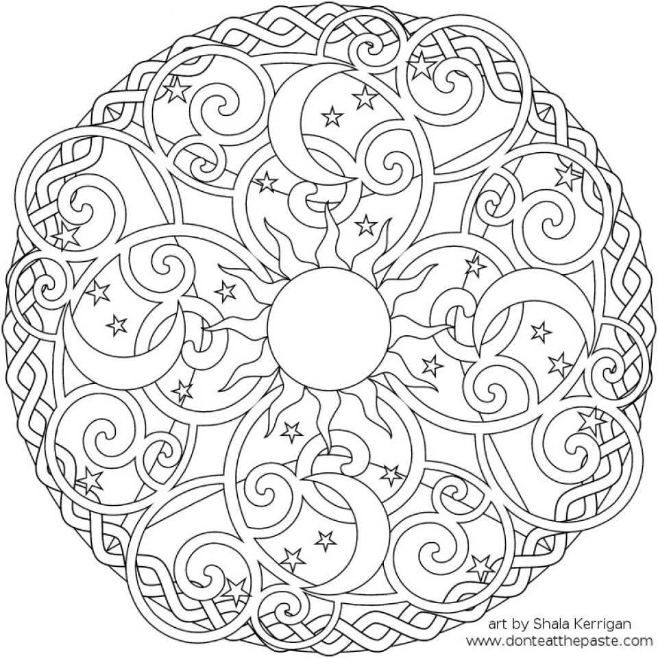 Get This Printable Abstract Coloring Pages Online 15287