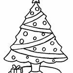 Printable Christmas Tree Coloring Pages Online   83111