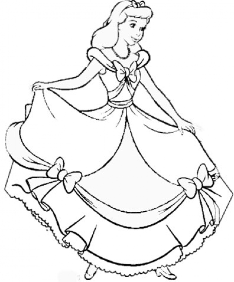 Get This Printable Cinderella Coloring Pages 32237
