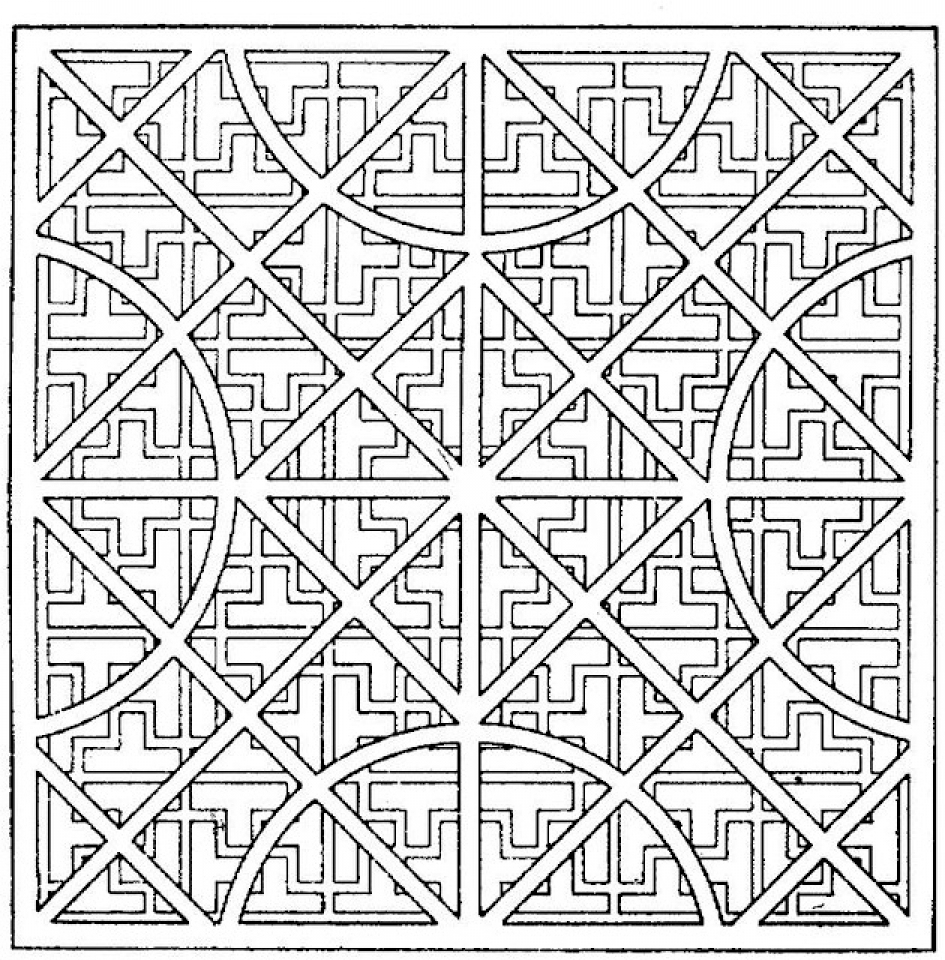 Get This Printable Geometric Coloring