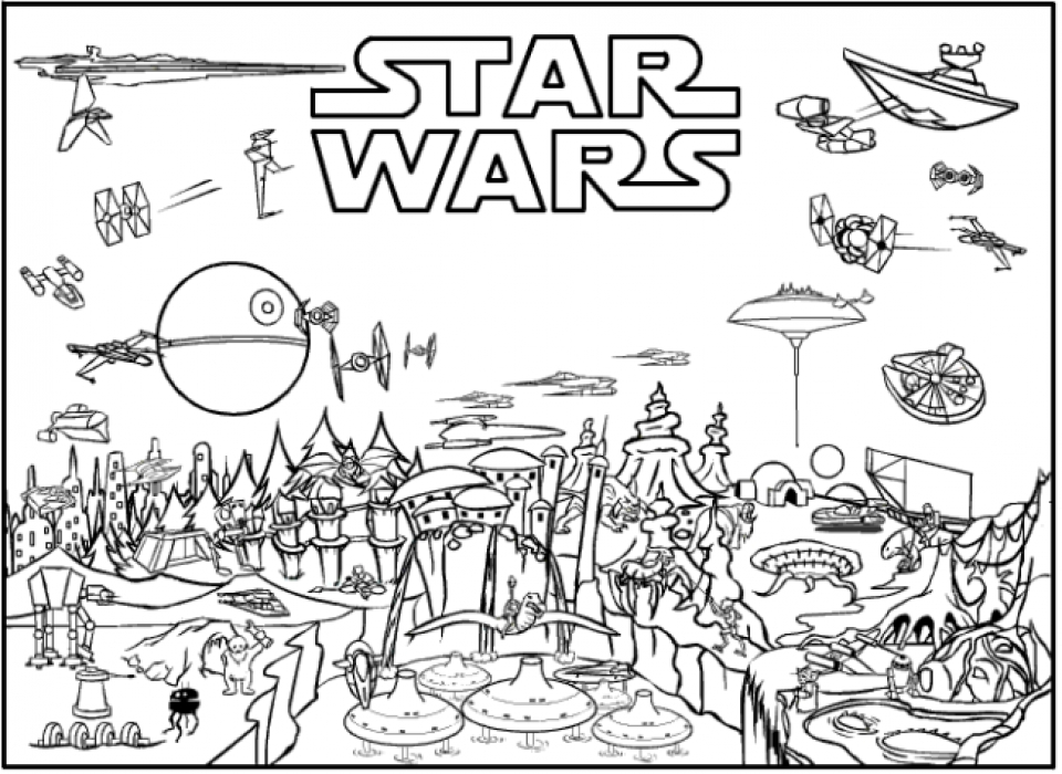 20 Free Printable Lego Star Wars Coloring Pages
