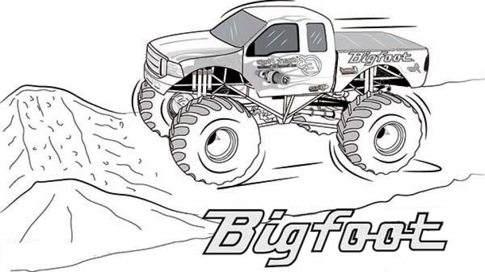 It's just an image of Effortless Monster Truck Printable Coloring Pages