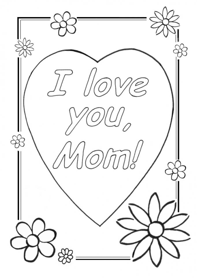 Открытка маме на день рождения своими руками рисунок 15