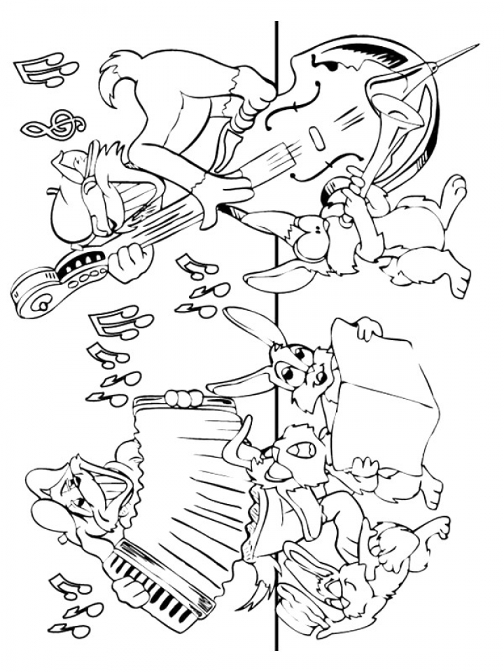 Get this printable music coloring pages for kindergarten Coloring book for kinder