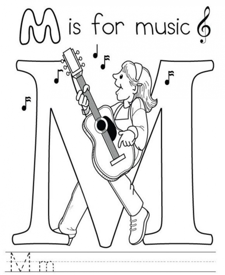 20 Free Printable Music Coloring