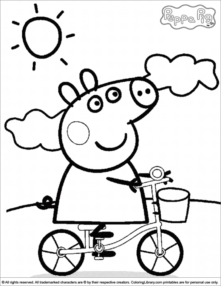 printable peppa pig coloring pages 16528 - Pig Coloring Pages