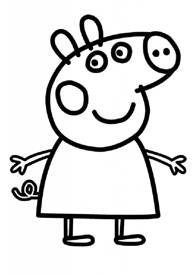 Printable Peppa Pig Coloring Pages   32235