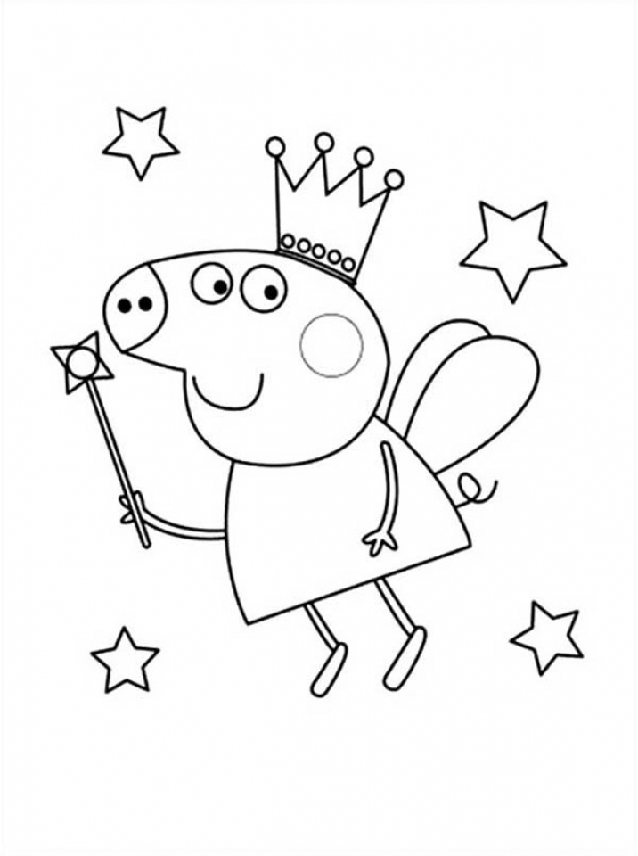 Printable Peppa Pig Coloring Pages   3356