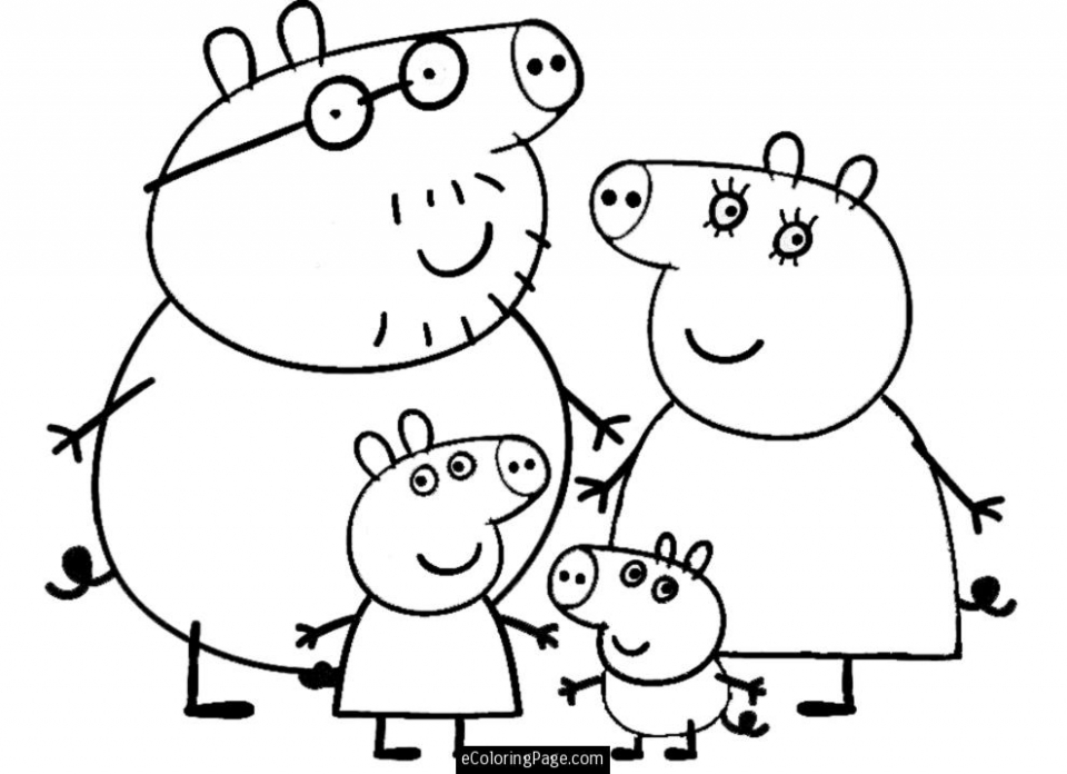 Printable Peppa Pig Coloring Pages Online   28877