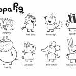 Printable Peppa Pig Coloring Pages Online   86936