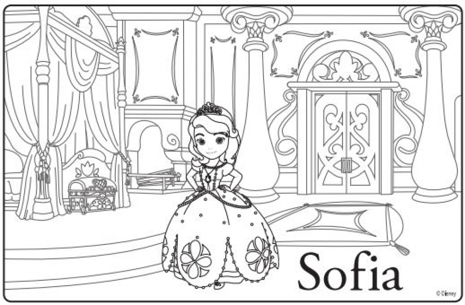 Genial Sofia The First Coloring Pages. Printable ...
