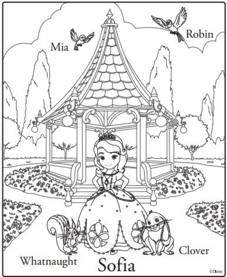 Printable Sofia the First Coloring Pages Online   46801