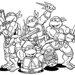 Printable Teenage Mutant Ninja Turtles Coloring Pages   6367