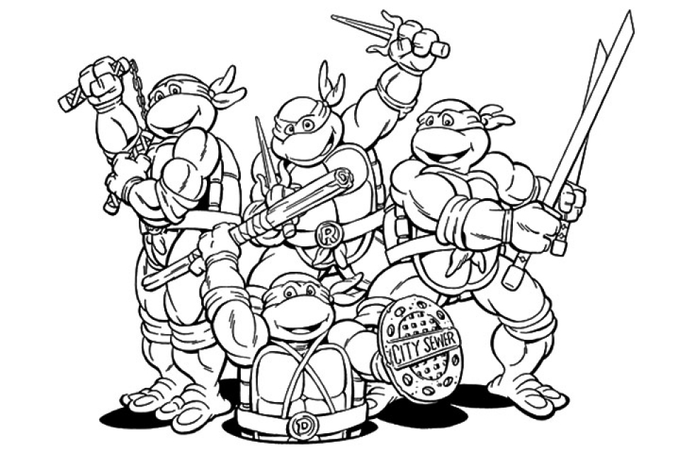 20 Free Printable Teenage Mutant Ninja Turtles Coloring Pages