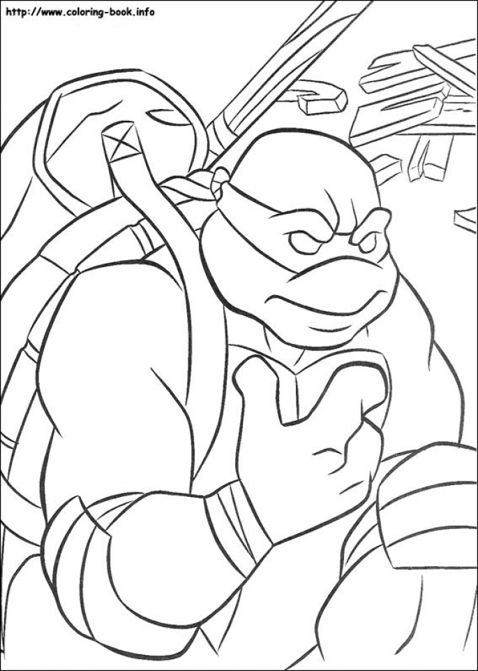 Printable Teenage Mutant Ninja Turtles Coloring Pages   89242