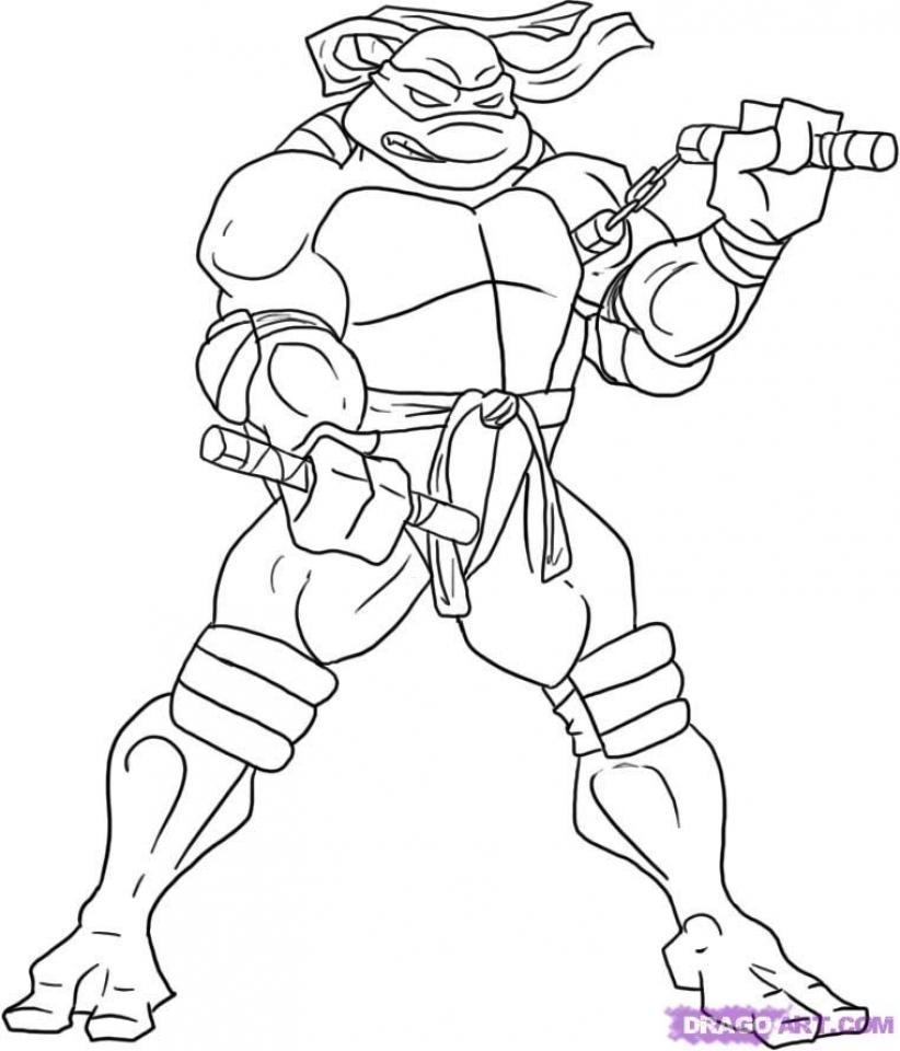 Get This Printable Teenage Mutant Ninja Turtles Coloring ...