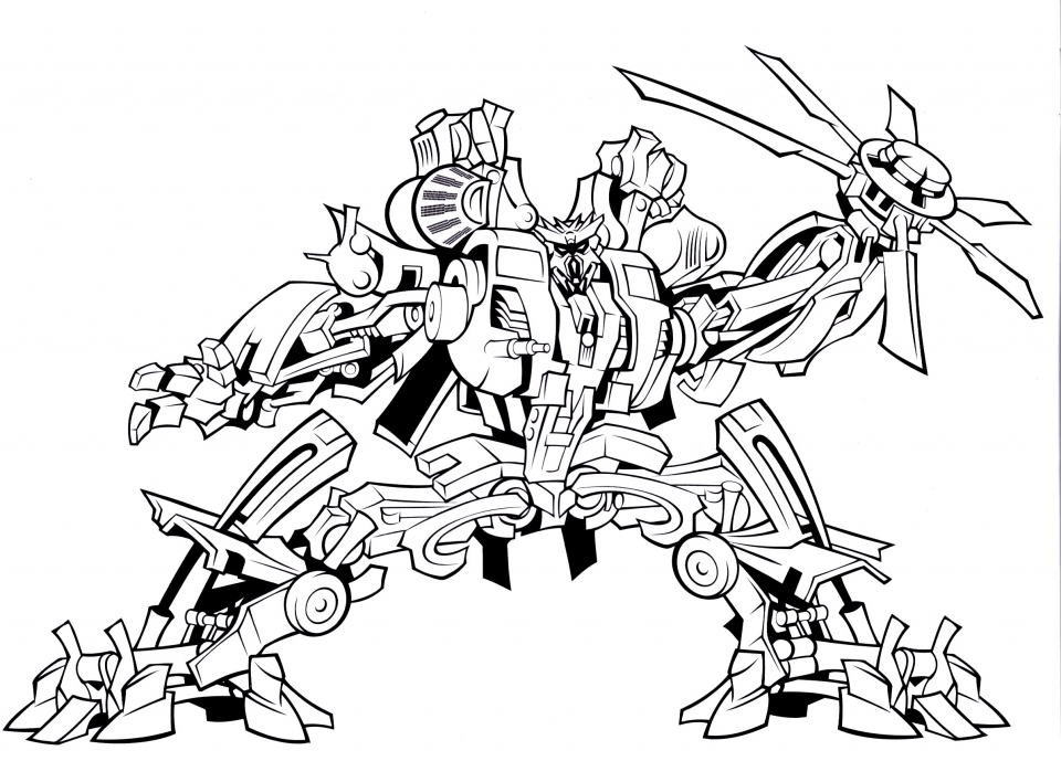 Get This Printable Transformers Robot Coloring Pages for