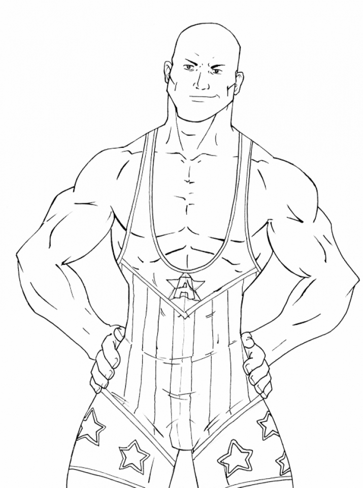 Get This Printable WWE Coloring Pages Online 12903