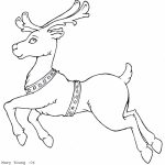 Reindeer Coloring Pages for Kids   73519