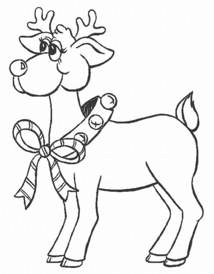 Reindeer Coloring Pages Online   56271