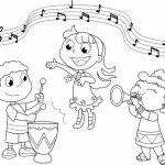 Simple Music Coloring Pages to Print for Preschoolers   78504
