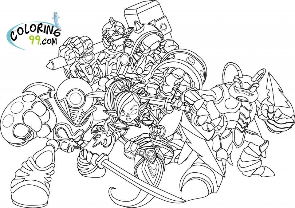 skylander coloring pages