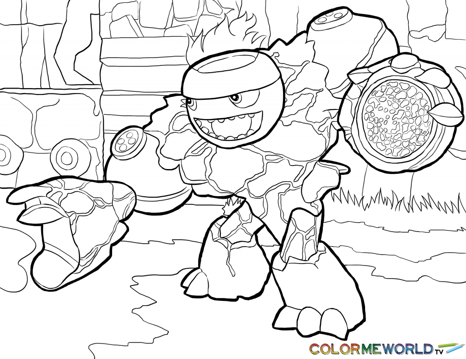 Skylander Coloring Pages Kids Printable   37952