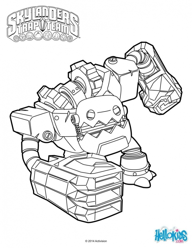 Skylander Coloring Pages Kids Printable   41678