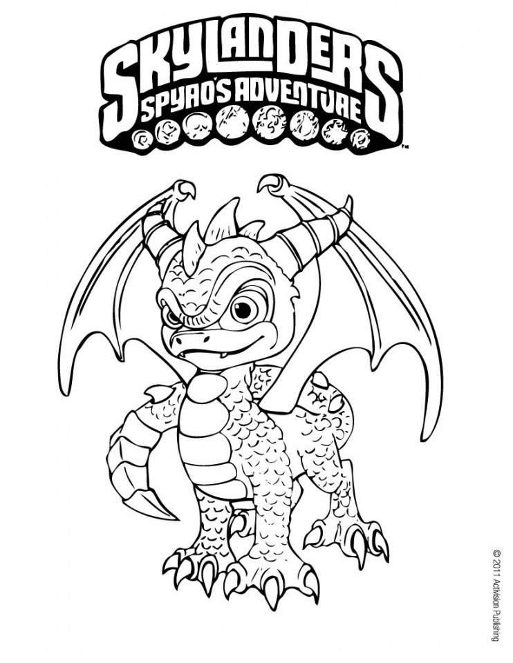 Skylander Coloring Pages Printable   36188