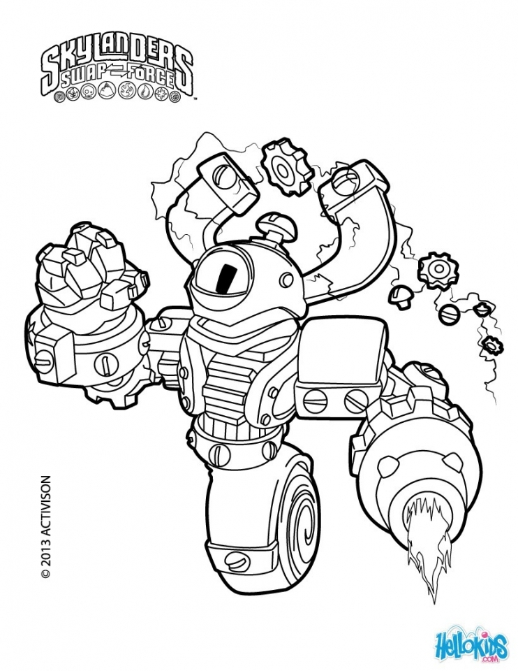 Skylander Coloring Pages Printable   51629