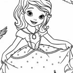 Sofia the First Coloring Pages Free Printable   98962