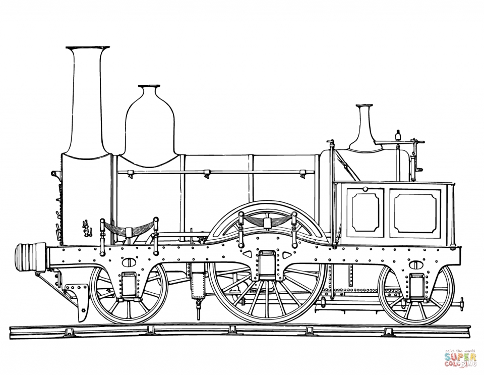 Steam Train Coloring Pages   22618