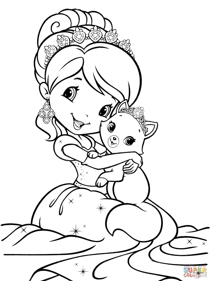 Strawberry Shortcake Coloring Pages for Girls   31679