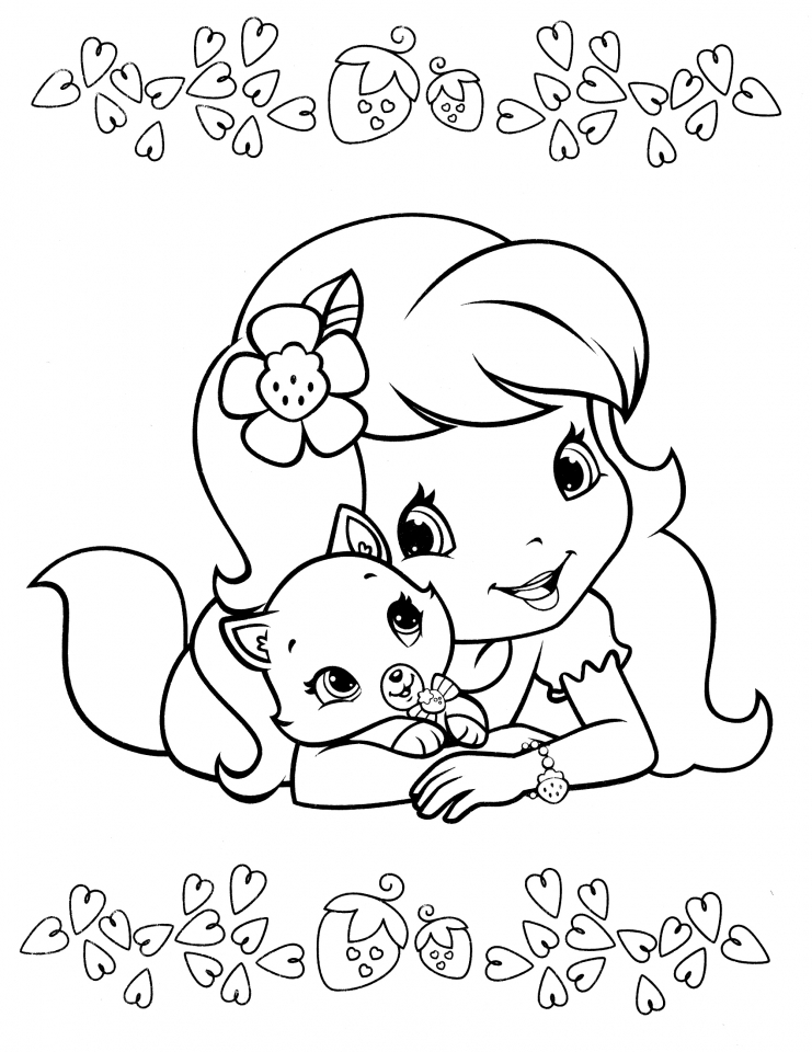 online strawberry shortcake coloring pages - photo#8