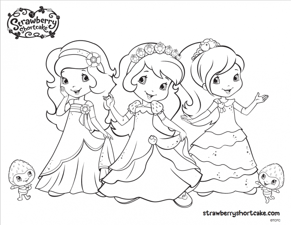 strawberry shortcake coloring pages - Strawberry Shortcake Coloring Pages