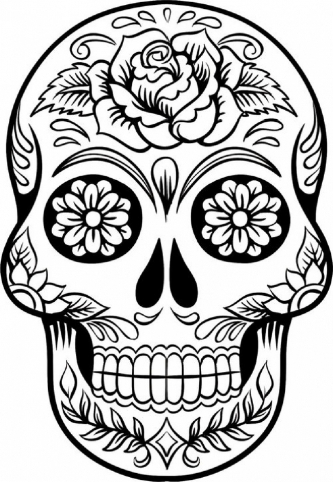 Sugar Skull Coloring Pages for Adults   21662