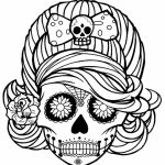 Sugar Skull Coloring Pages for Grown Ups   5759