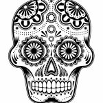 Sugar Skull Coloring Pages for Grown Ups   63412