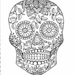 Sugar Skull Coloring Pages Free Printable for Grown Ups   21694