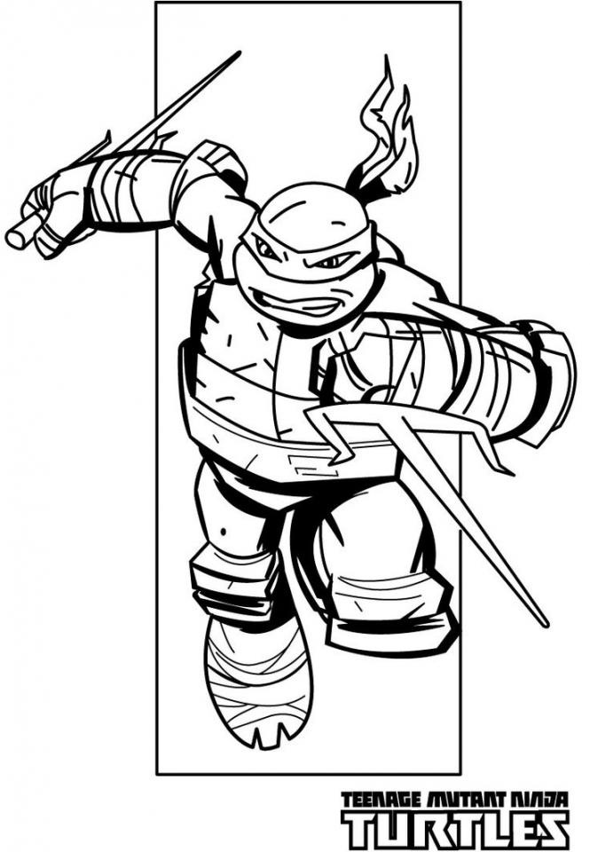 Teenage Mutant Ninja Turtles Coloring Pages Free Printable   31484