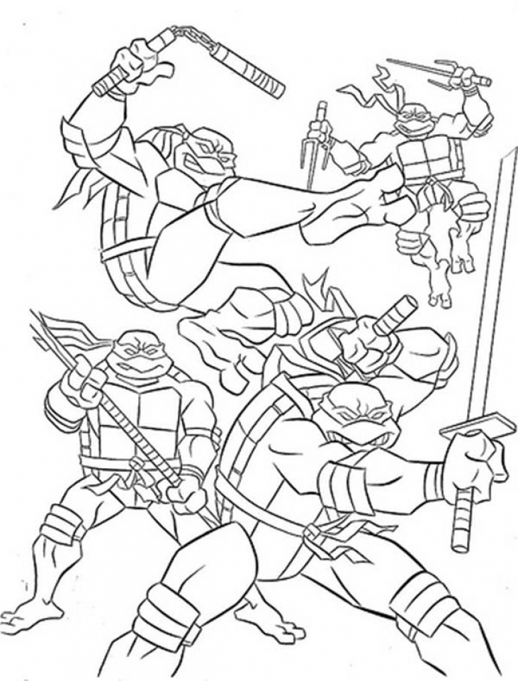 20 free printable teenage mutant ninja turtles coloring for Coloring pages turtles ninja