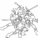 Teenage Mutant Ninja Turtles Coloring Pages Free Printable   9860