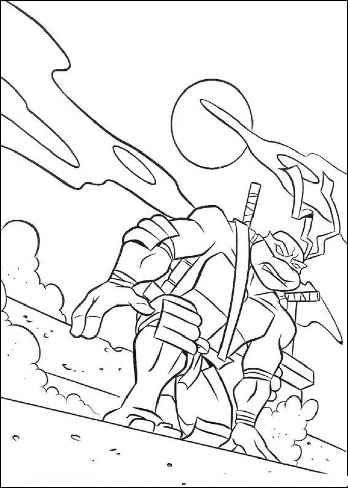 20+ Free Printable Teenage Mutant Ninja Turtles Coloring Pages ...
