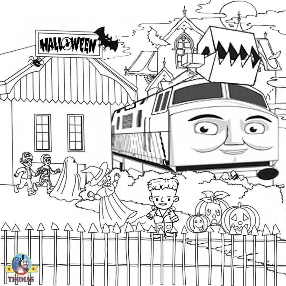 Thomas the Tank Engine Coloring Pages Free   80043