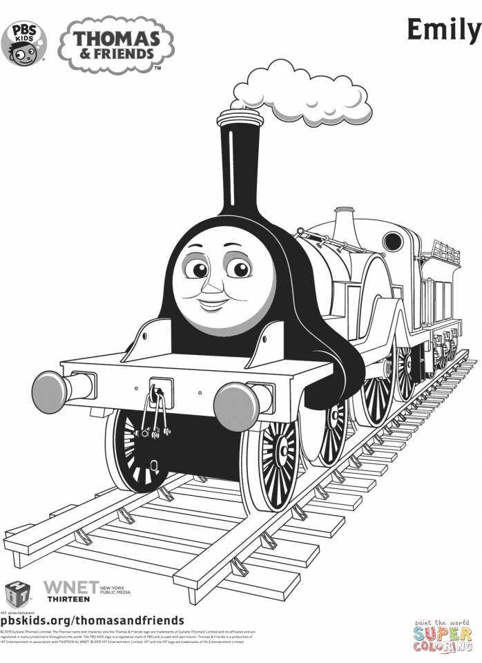 Get This Thomas the TRain Coloring Pages Free 14289