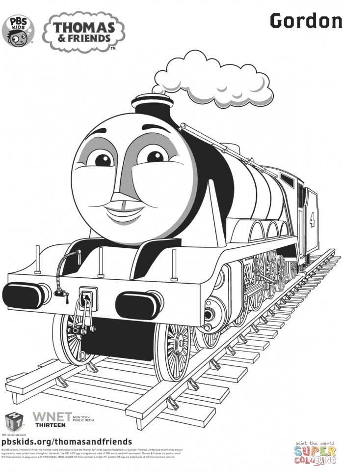 Get This Thomas the TRain Coloring Pages Free 51425