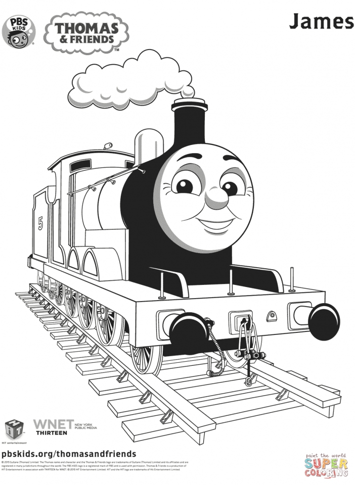 James the red engine coloring pages imageresizertool com for Printable thomas the train coloring pages