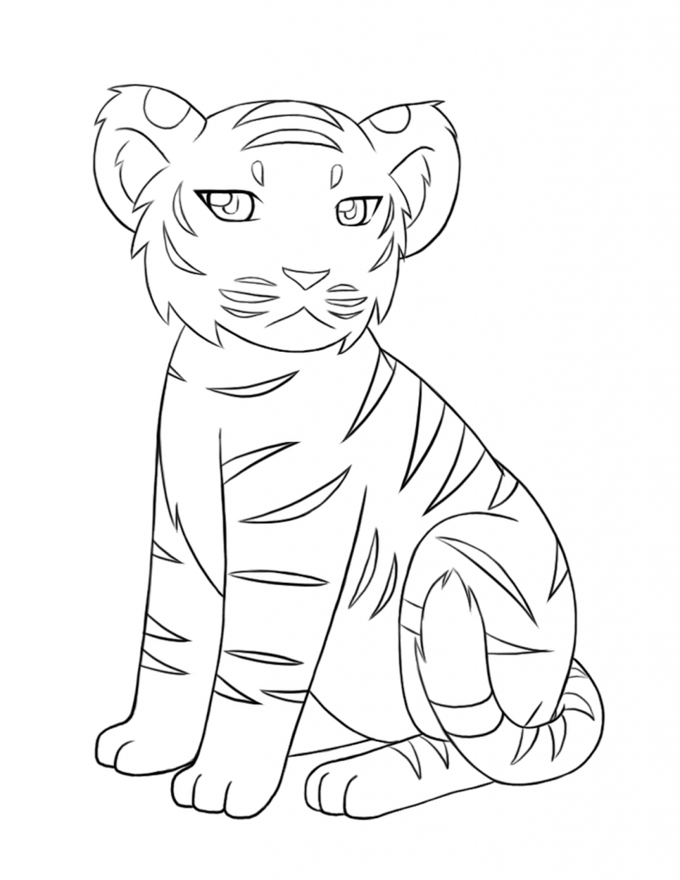Tiger Coloring Pages to Print Out   21046