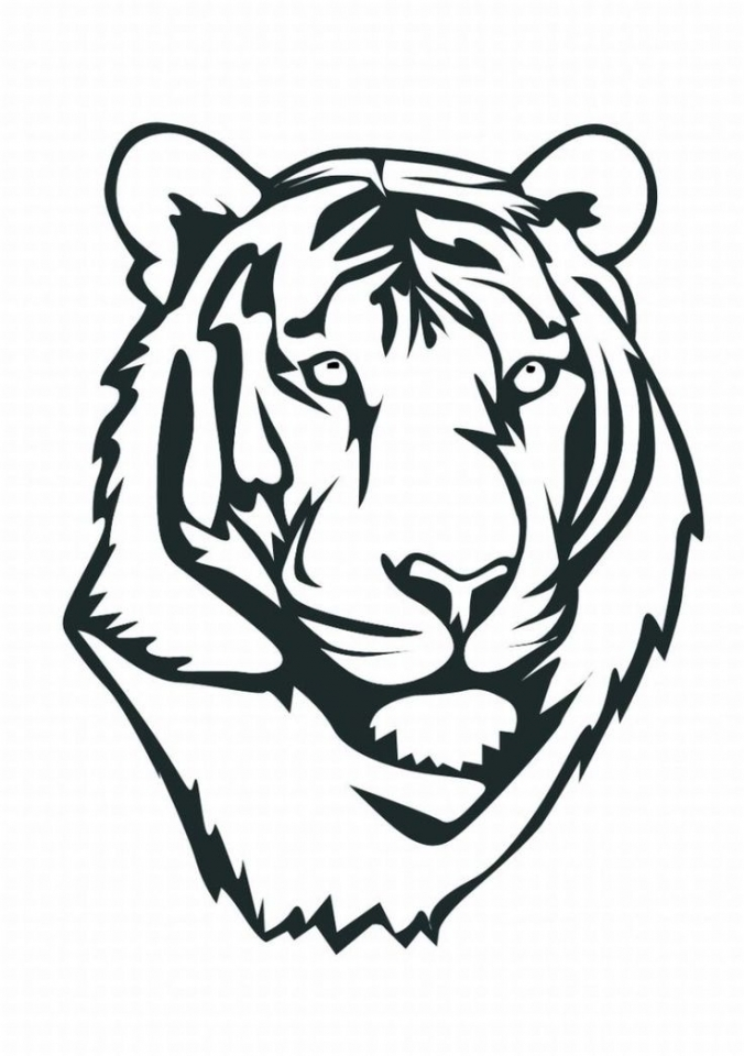 Get This Tiger Face Coloring Pages Free Printable 41854